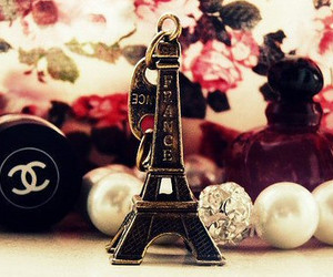 paris, chanel, and eiffel tower image