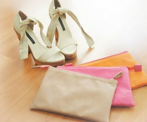 fashion, shoes, and clutch image