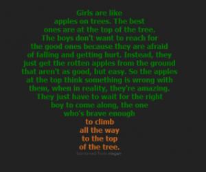 apple, boy, and girl image