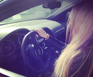 car, audi, and girl image