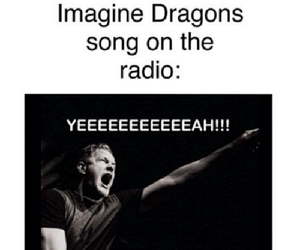 radio, song, and imagine dragons image