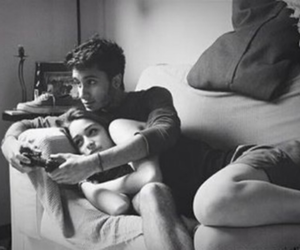 boy, cuddle, and videogame image