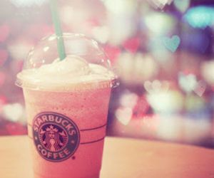 starbucks, pink, and coffee image
