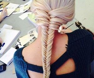 braid, blond, and love image