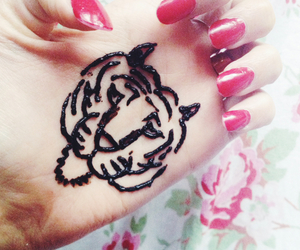 henna, lion, and tiger image