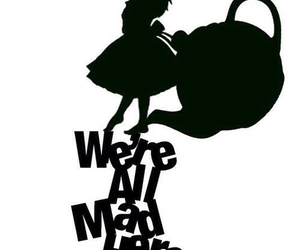 alice in wonderland, mad, and wonderland image