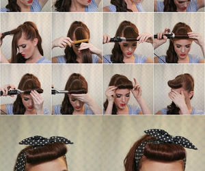 diy, girly, and hairstyle image