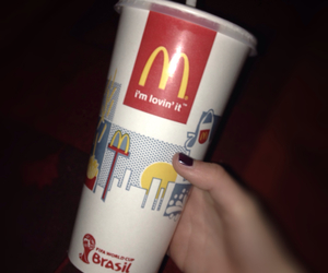 black, drink, and mcdonald image