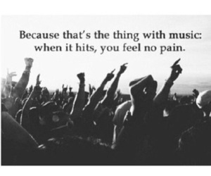 music, quote, and pain image
