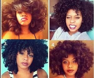 black woman, curly hair, and natural hair image