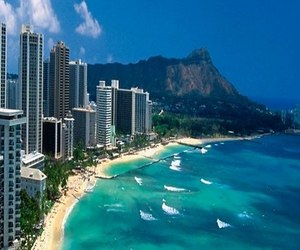 hawaii, ocean, and beach image