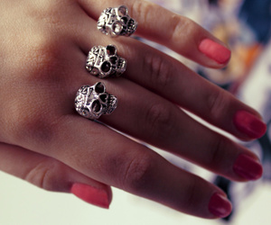 skull, ring, and nails image