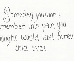 pain, forever, and quote image