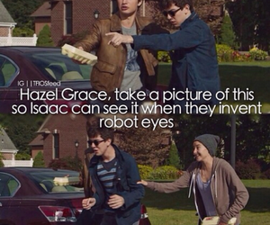 augustus waters, hazel grace, and book image