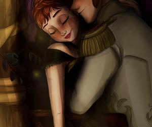 anna, disney, and hans image