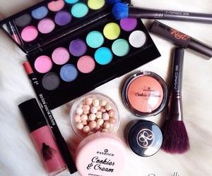 essence, mac cosmetics, and makeup brush image