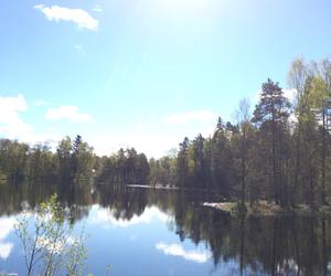 beautiful, lake, and swedish image