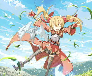 anime, sword art online, and silica image