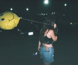 grunge, girl, and balloons image