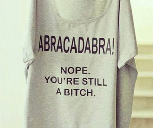 bitch, abracadabra, and funny image