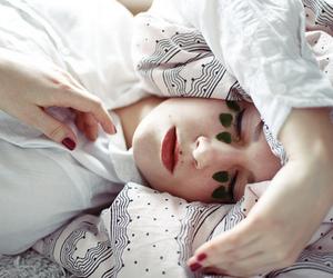 girl, photography, and sleep image