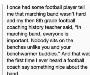football, marching band, and school image