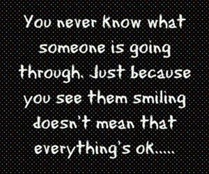 quote, smile, and ok image