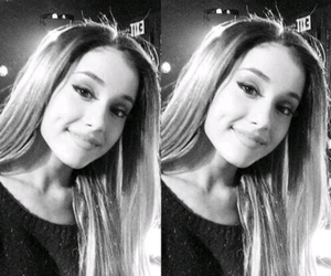 ariana grande, black and white, and Queen image