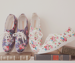 shoes, flowers, and book image
