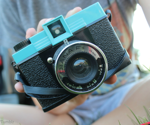 camera, photography, and blue image
