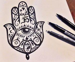 Buddha and drawing image