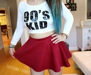 cute, skirt, and 90s image
