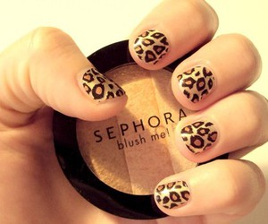 nails, leopard, and sephora image