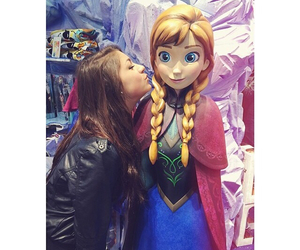 brown hair, andrea russett, and frozen image