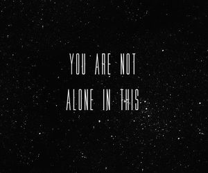 quote, alone, and stars image
