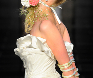 blond, flower, and marriage image