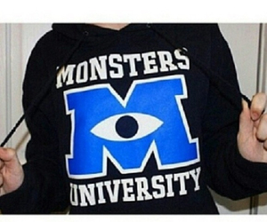 monsters university, hoodie, and monster image