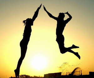 love and volleyball image
