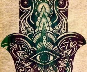 hamsa, hand, and hippie image