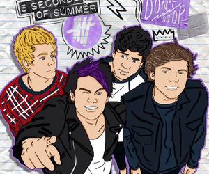 cartoon, 5sos, and michael clifford image
