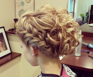 hair, Prom, and updo image
