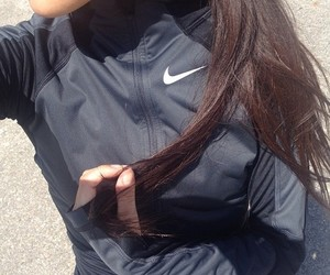 nike, hair, and sport image