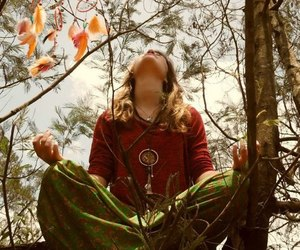 hippie, meditation, and peace image