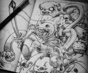 adventure time, black, and draw image