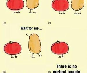 love, potato, and tomato image