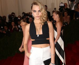cara delevingne, beautiful, and met ball 2014 image
