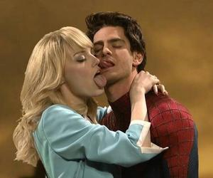 cute, emma stone, and andrew garfield image