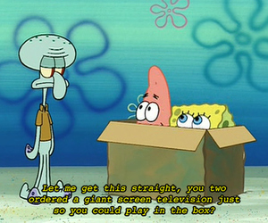 90s, squidward, and box image