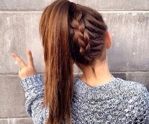 fashion, hairstyle, and peace image