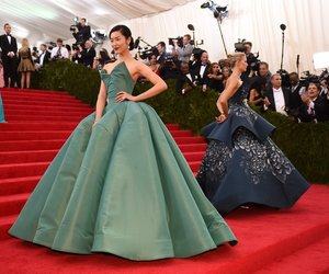 Couture, victoria secret models, and met gala image